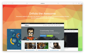 Drifolio Landing Page Template